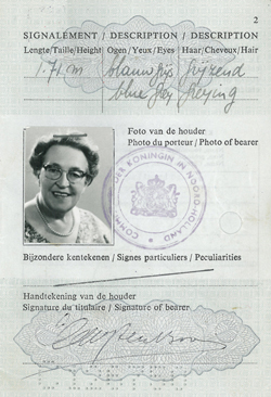 Corrie ten Boom Passport 1966_Cover Page