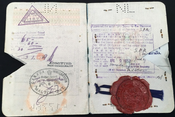 ctb passport 1950 japan