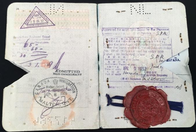 ctb passport 1950 japan