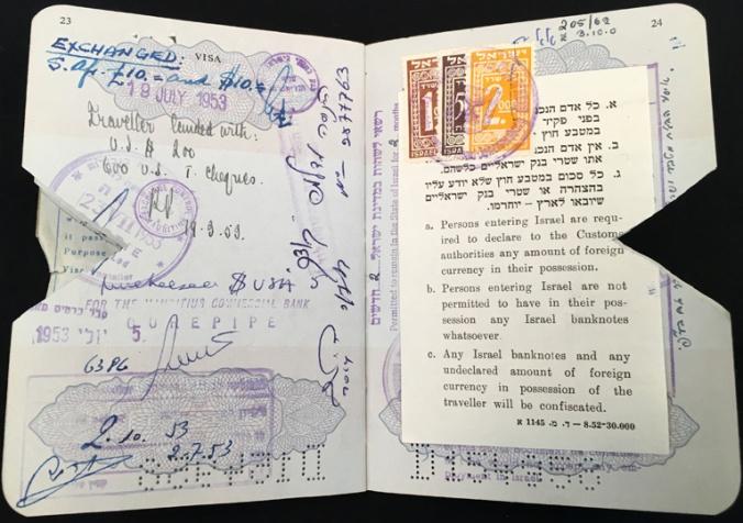 ctb passport 1952 israel