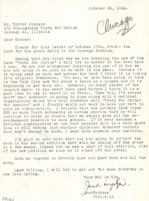 Jack letter