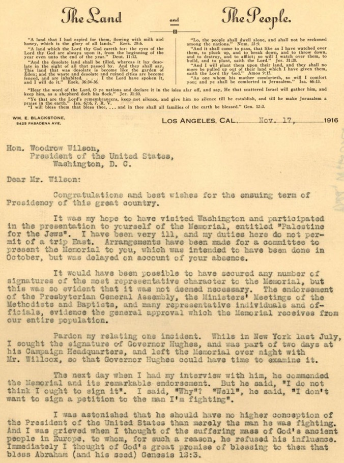 Letter to Pres Wilson_Page 1