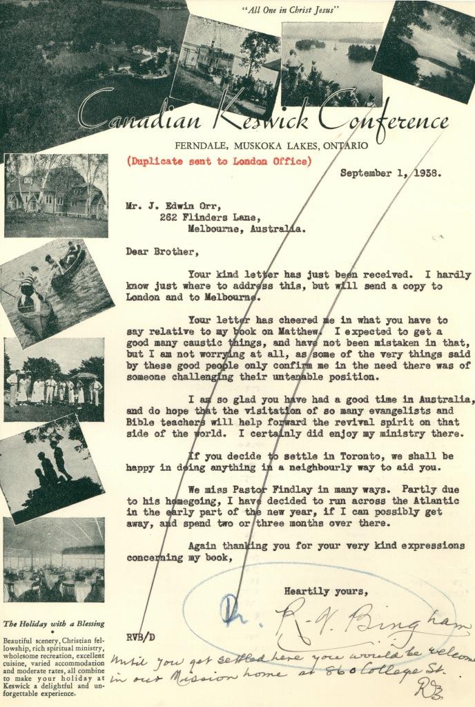 Keswick letterhead